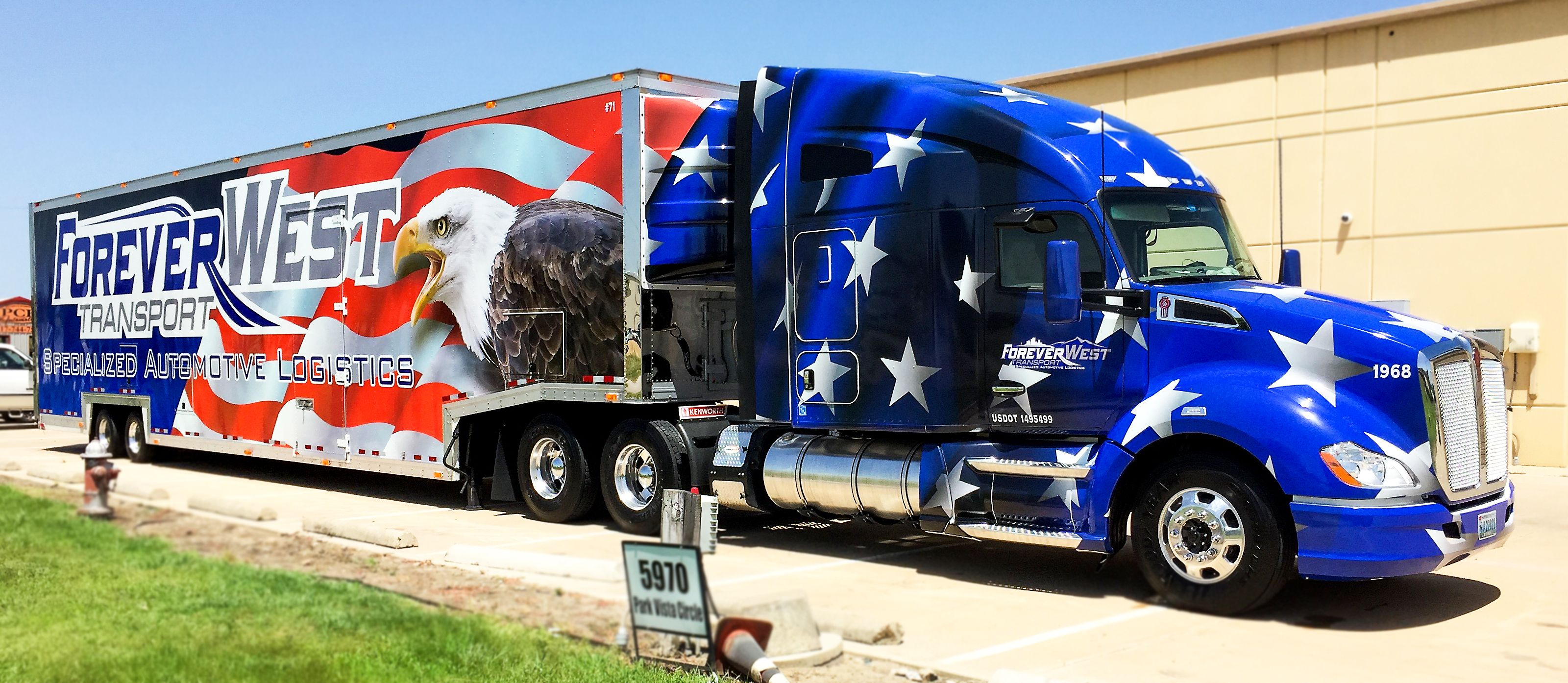 Freightliner Wrap Dfw Truck And Trailer Commercial Vehicle Car Wrap Vehicles