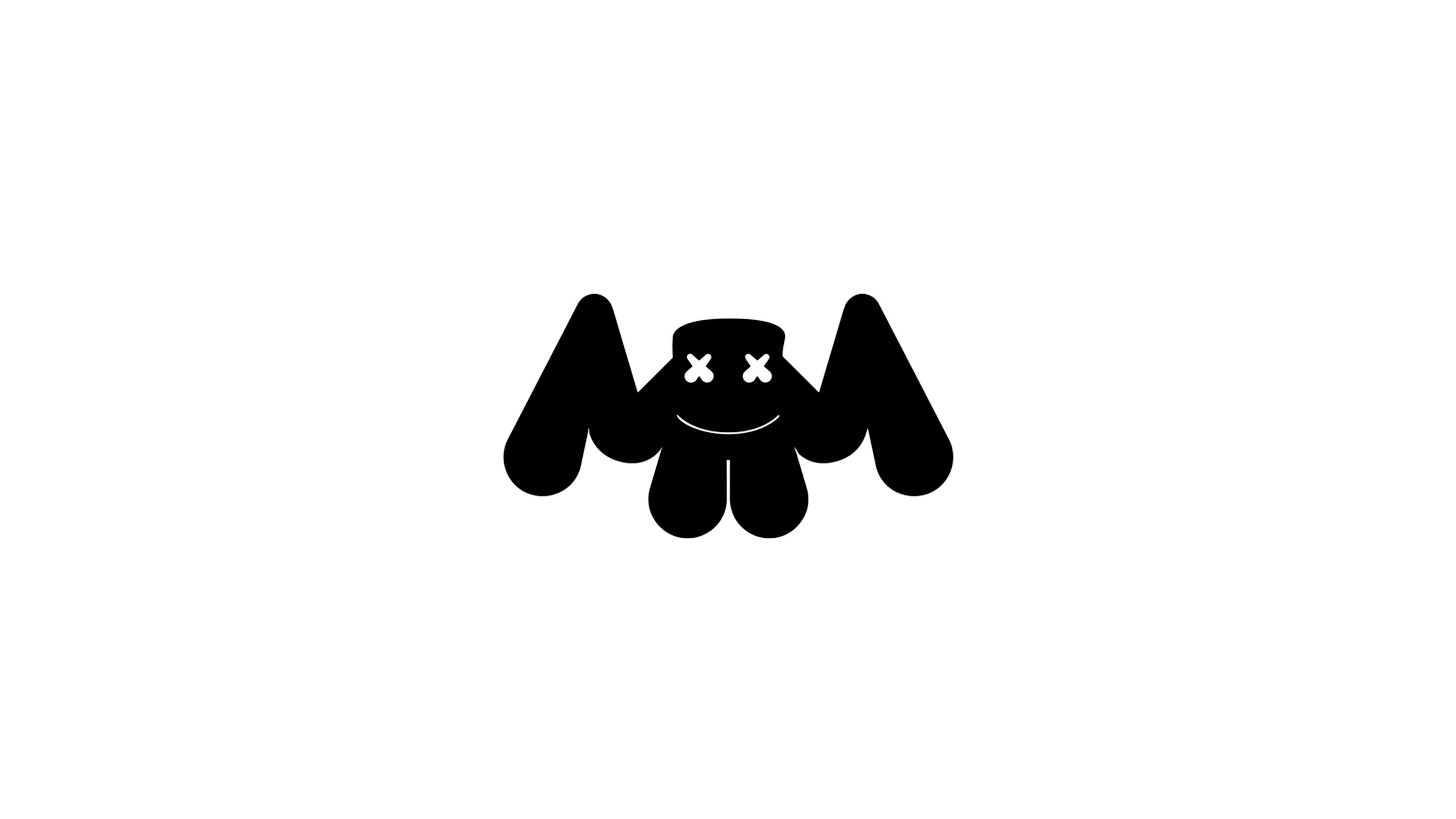 Marshmello Logo White Marshmello In 2019 Pinterest Wallpaper