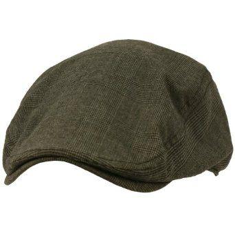 5c400e947c1 Amazon.com  Men s Light Summer Duck Bill Plaid Ivy Flat Cabbie Hat Cap  Charcoal 58cm L XL  Clothing