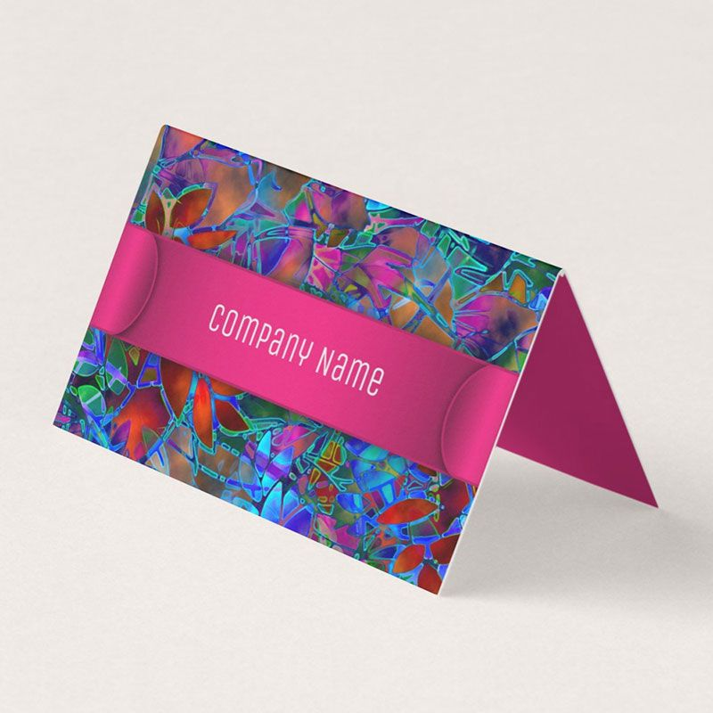 Sold folded business card floral abstract stained glass httpswww sold folded business card floral abstract stained glass httpszazzle reheart Images