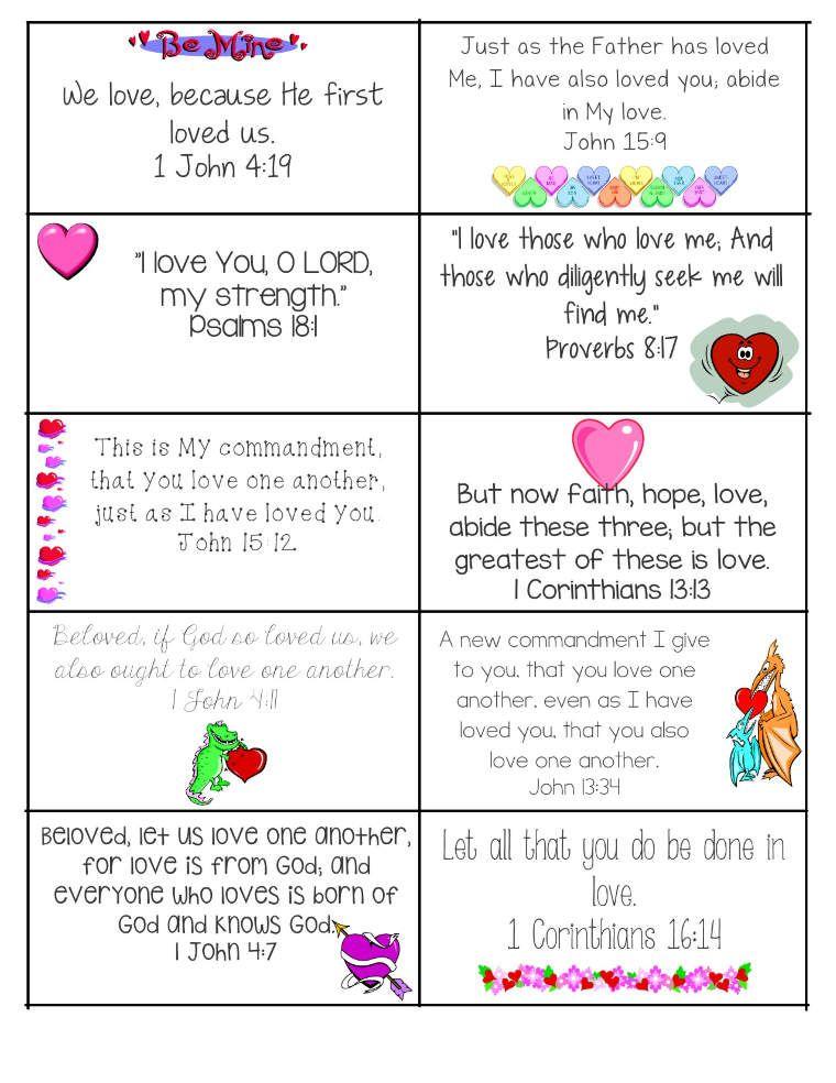 Valentine Bible Verses valentines day printable bible verse 1