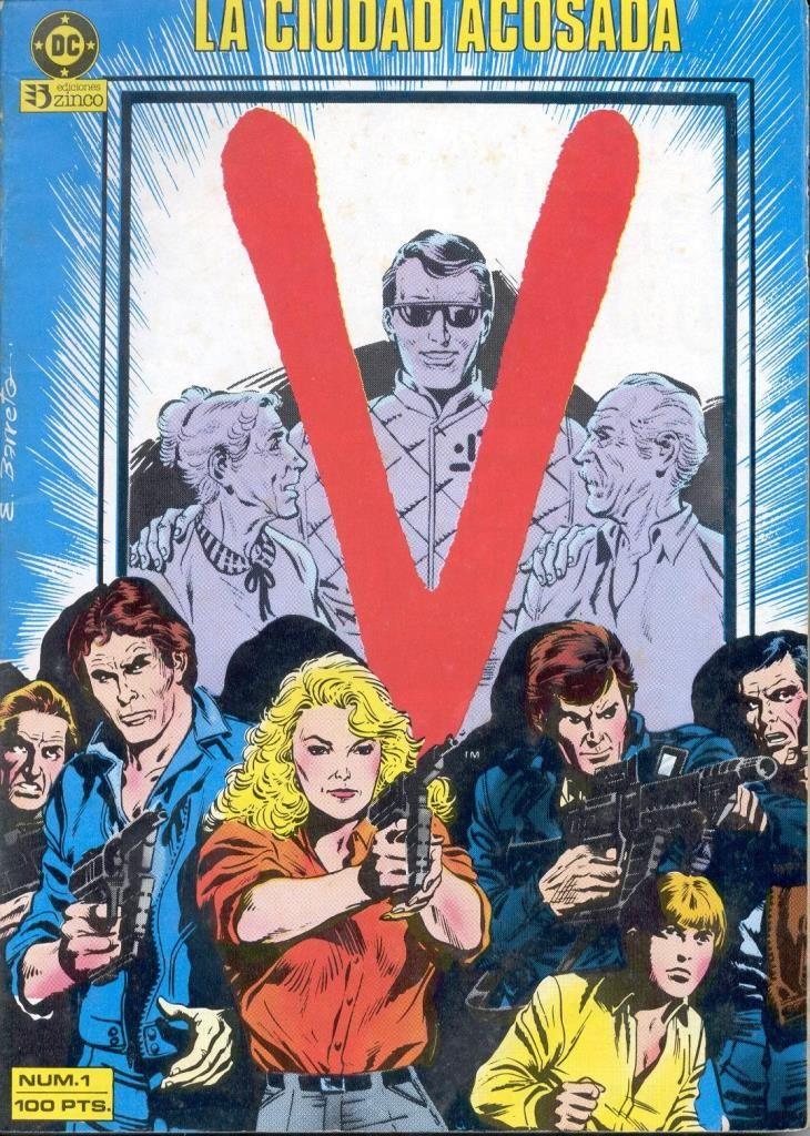 V, Invasión Extraterreste. Colección de 16 números, publicados en 1986 por Ediciones Zinco