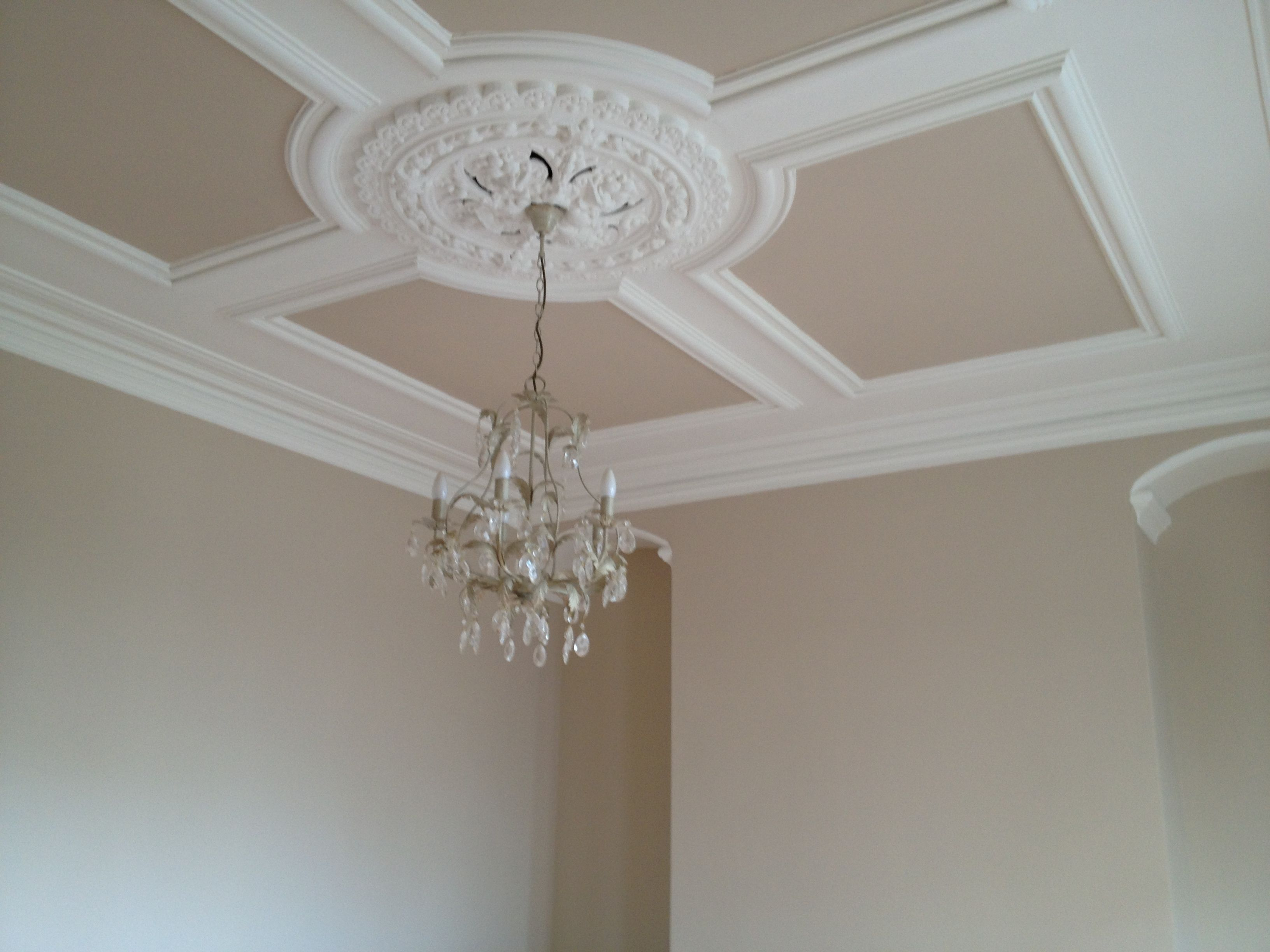 Victorian Ceiling Rose Coving Love It Even More Now Its Painted A Few Shades Darker As Light Fixtures Bedroom Ceiling Plaster Ceiling Design Ceiling Rose
