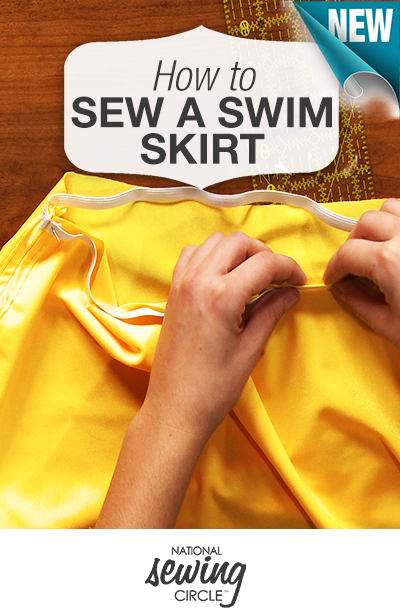 Start your summer off with a bang and learn how to sew your own swim skirt! http://bit.ly/1HNJVjr #NSC #learnmoresewmore #LetsSew