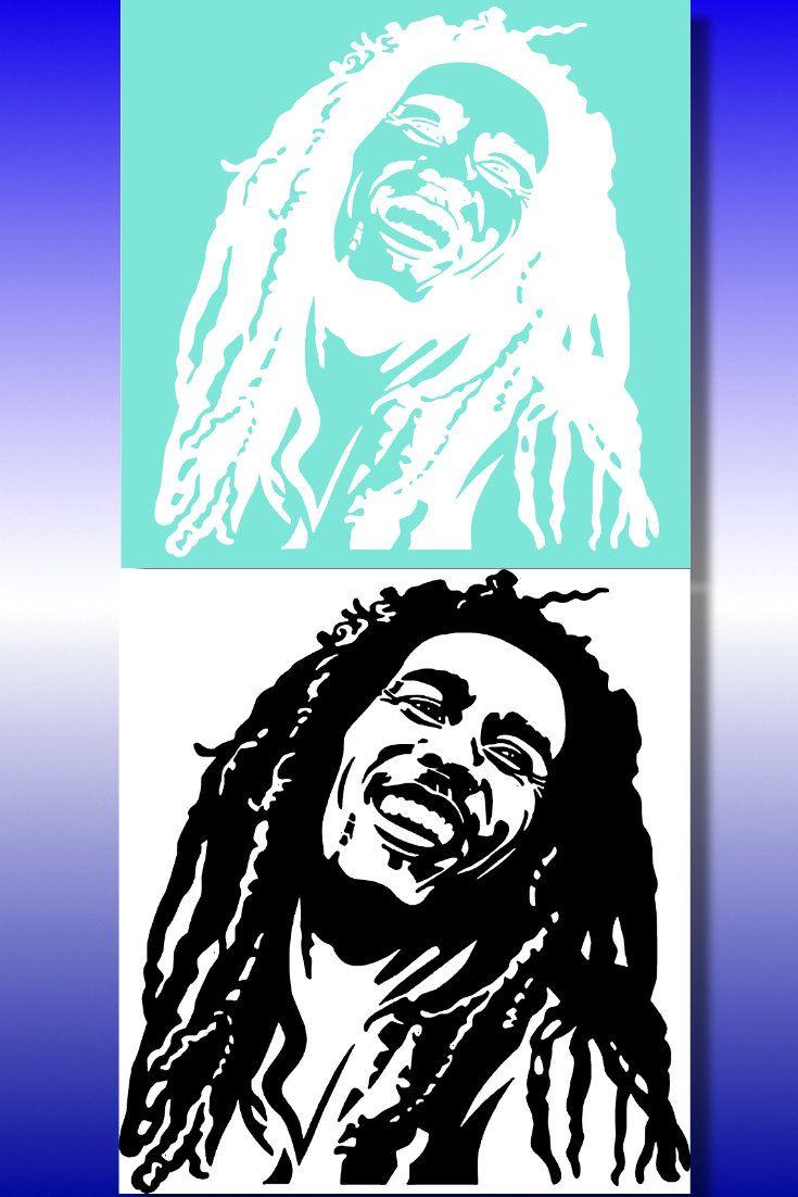 Airbrush Schablone Bob Marley Spezielle Maskierfolie für Airbrush ...