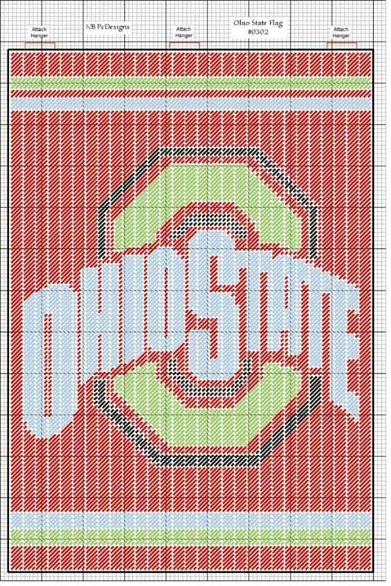 Ohio State Flag My Plastic Canvas Plastic Canvas Patterns Plastic Canvas Crafts Plastic Canvas
