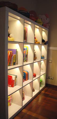 Iluminación LED estantería Expedit Casas Pinterest Estanterías