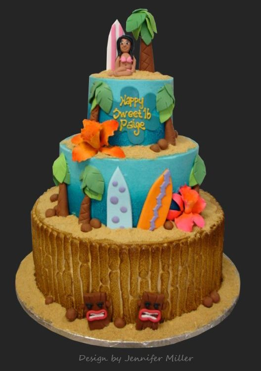 luau cake Grad Party LuauBeach Pinterest Luau cakes Luau and