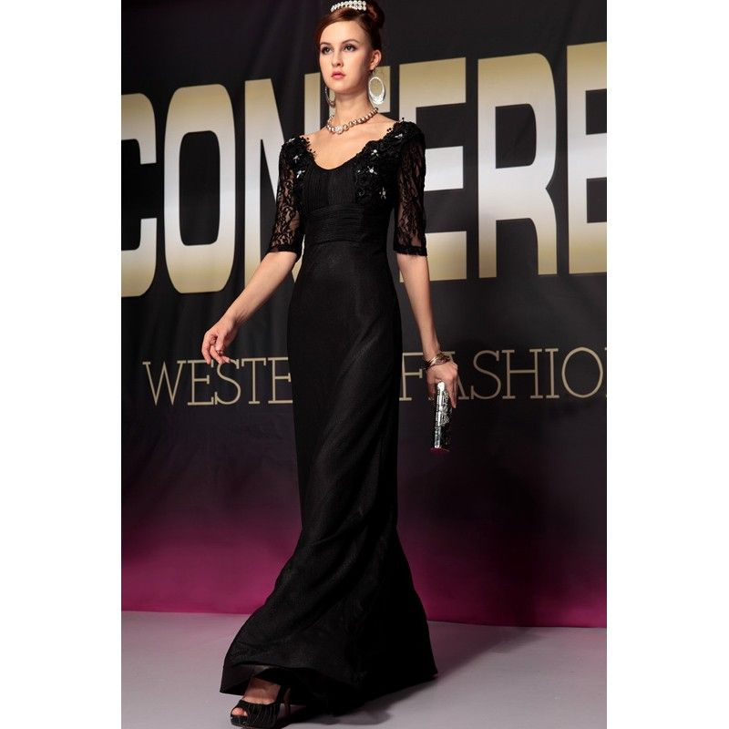 Sleeve Long Designer Evening Gowns