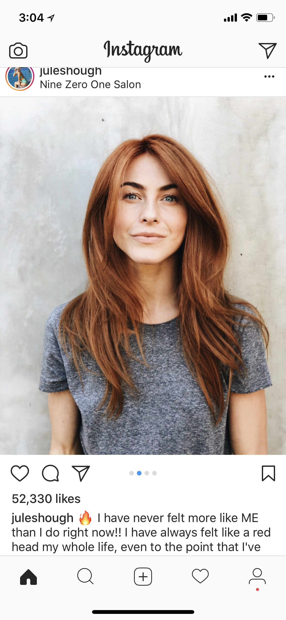 Long loose curls wavy red hair ginger redhead blonde highlights