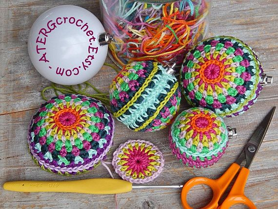 Crochet pattern Christmasball in 4 sizes by ATERGcrochet | Pinterest ...