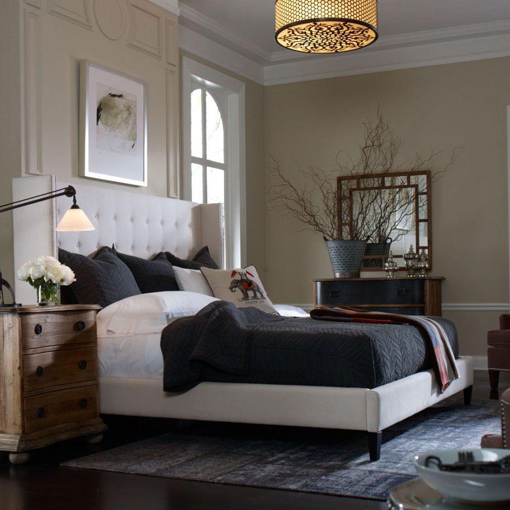 Jefferson Upholstered Bed   Master bedroom lighting ...