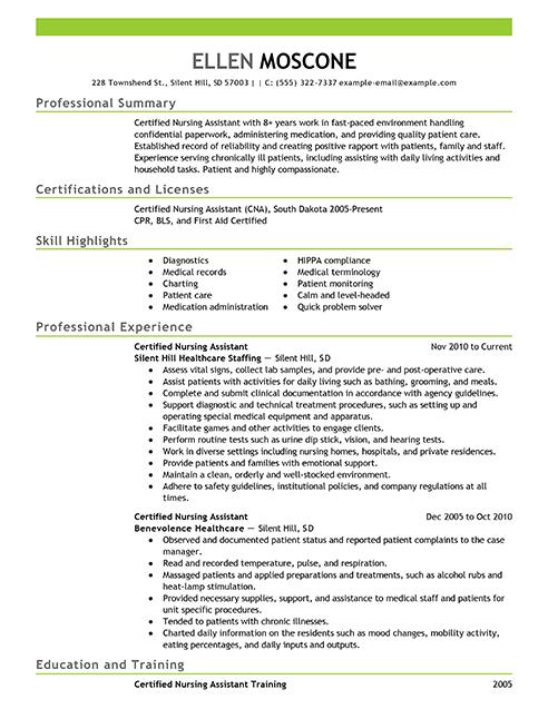 Certified Pharmacy Technician Resume Sample Resume Examples Certified Nursing Assistant Medical Assistant Resume Nursing Resume Examples Nursing Resume