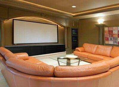 Theater Room Living Room Como Decorar La Sala Sala De