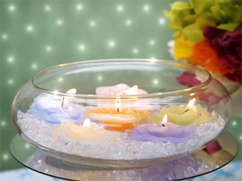 "Wedding Decorations Glass Bowls 7"" Decorating Floating Candle Glass Bowls For Wedding Birthday"