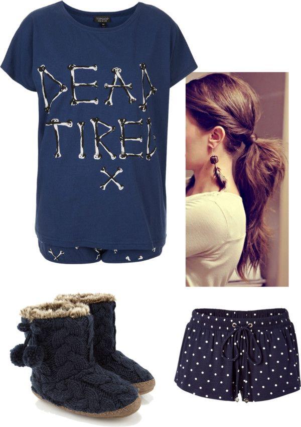"""pajamas"" by rebekah-olt ❤ liked on Polyvore"
