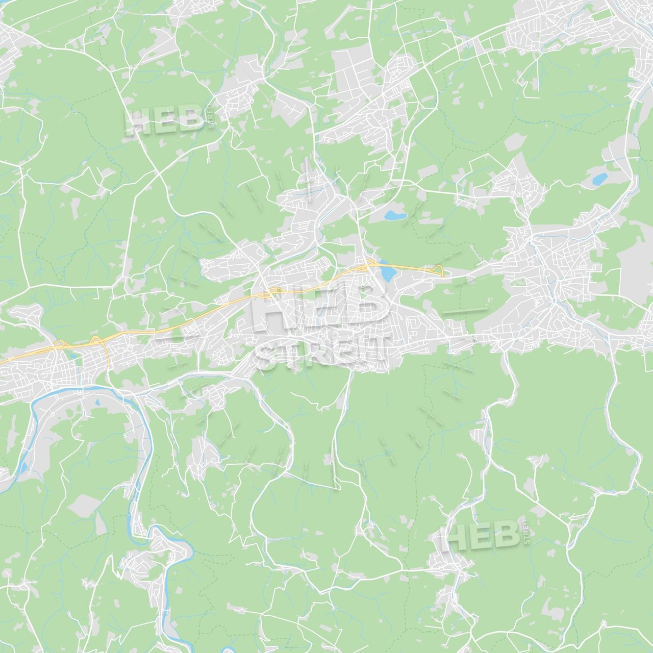 Iserlohn Germany Printable Street Map Streit Und Iserlohn Germany