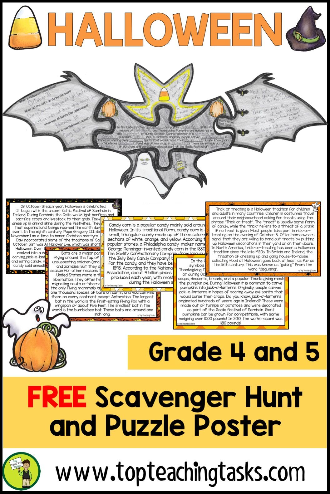 Halloween Reading Comprehension Activity Free
