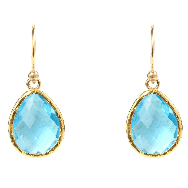 New 18K Gold//White Gold Plated Elegant Crystal Drop Dangle Hook Earring Stunning