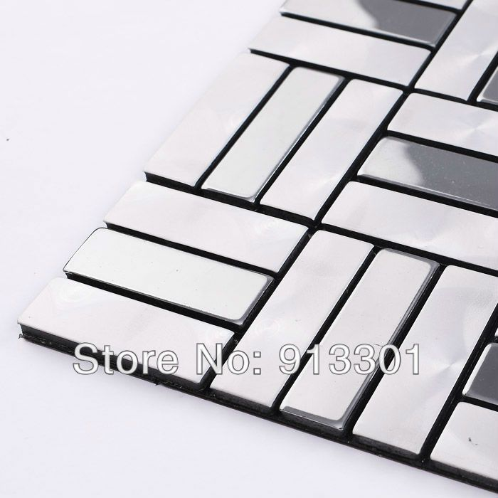 metallic mosaic tiles silver grey patterns wholesale bathroom wall ...