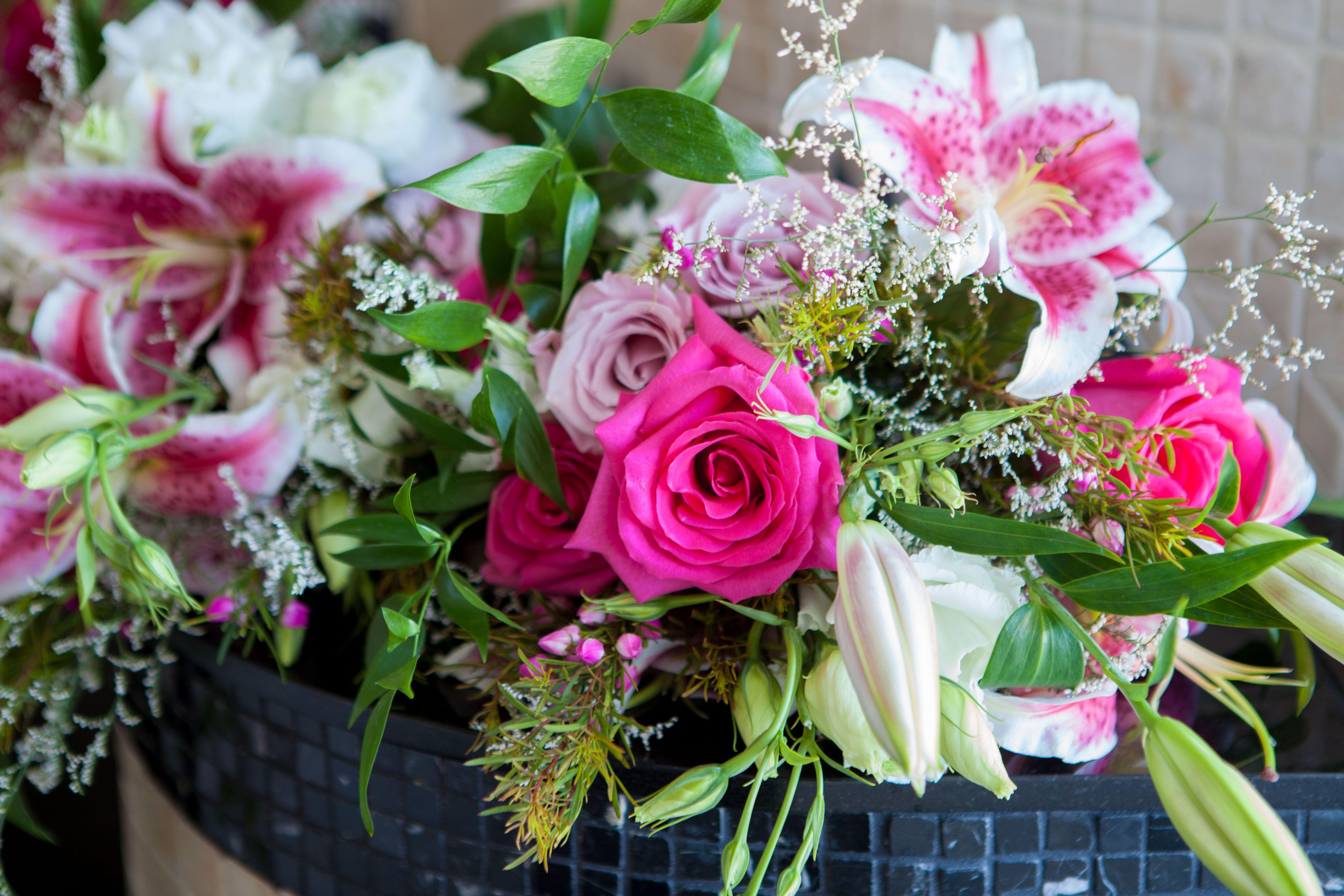 Yacht wedding decorations  Floral Flowers Pedestals Decor Florist Decorations CYNB