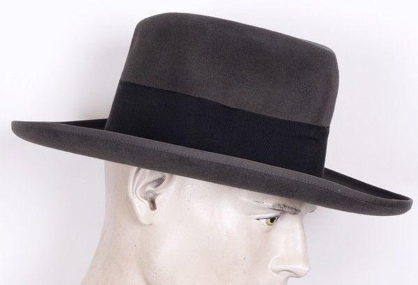 01bb5590644 1930s Huckel Mens Fedora Hat