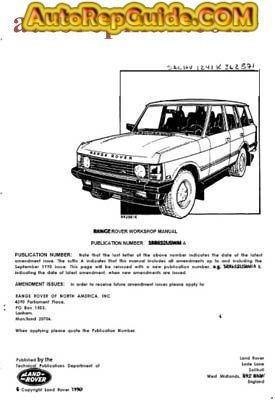 download free range rover classic 1987 1991 workshop manual rh pinterest com 2010 Range Rover 1980 Range Rover