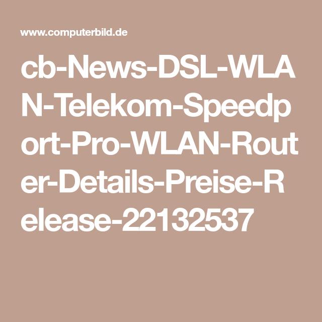 Telekom Speedport Pro TopRouter offiziell verfügbar