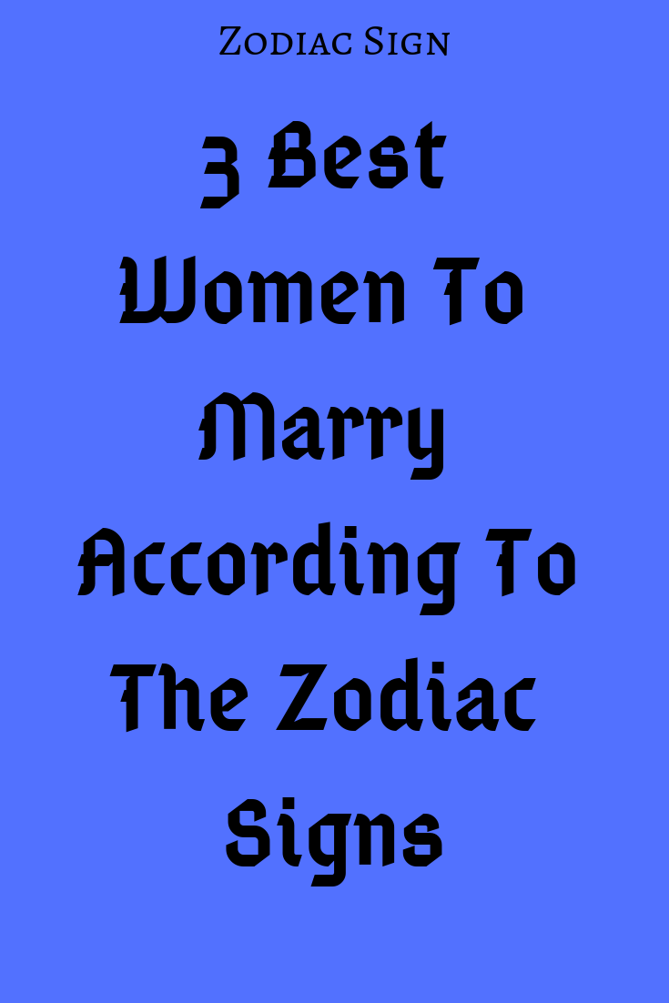 best sign for libra woman to marry