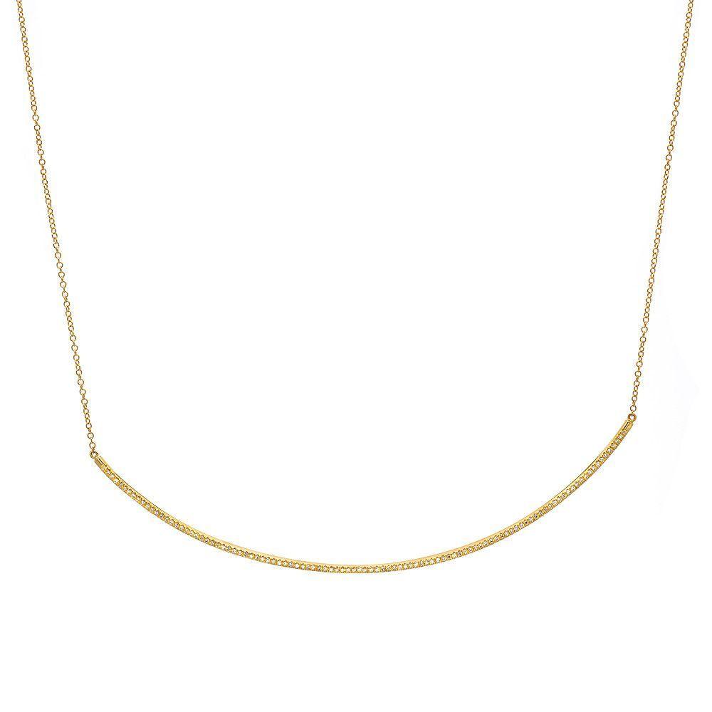 Extra Long Diamond Bar Necklace