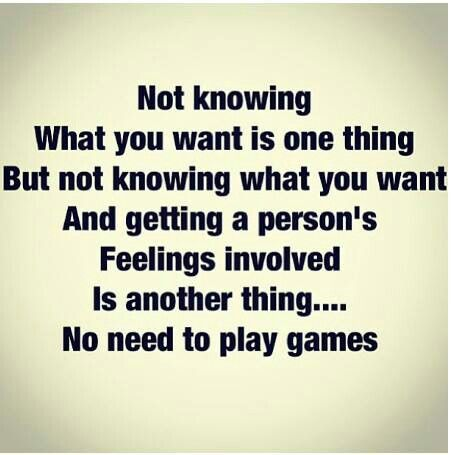 Quit playing games. Its either all in or nothing at all
