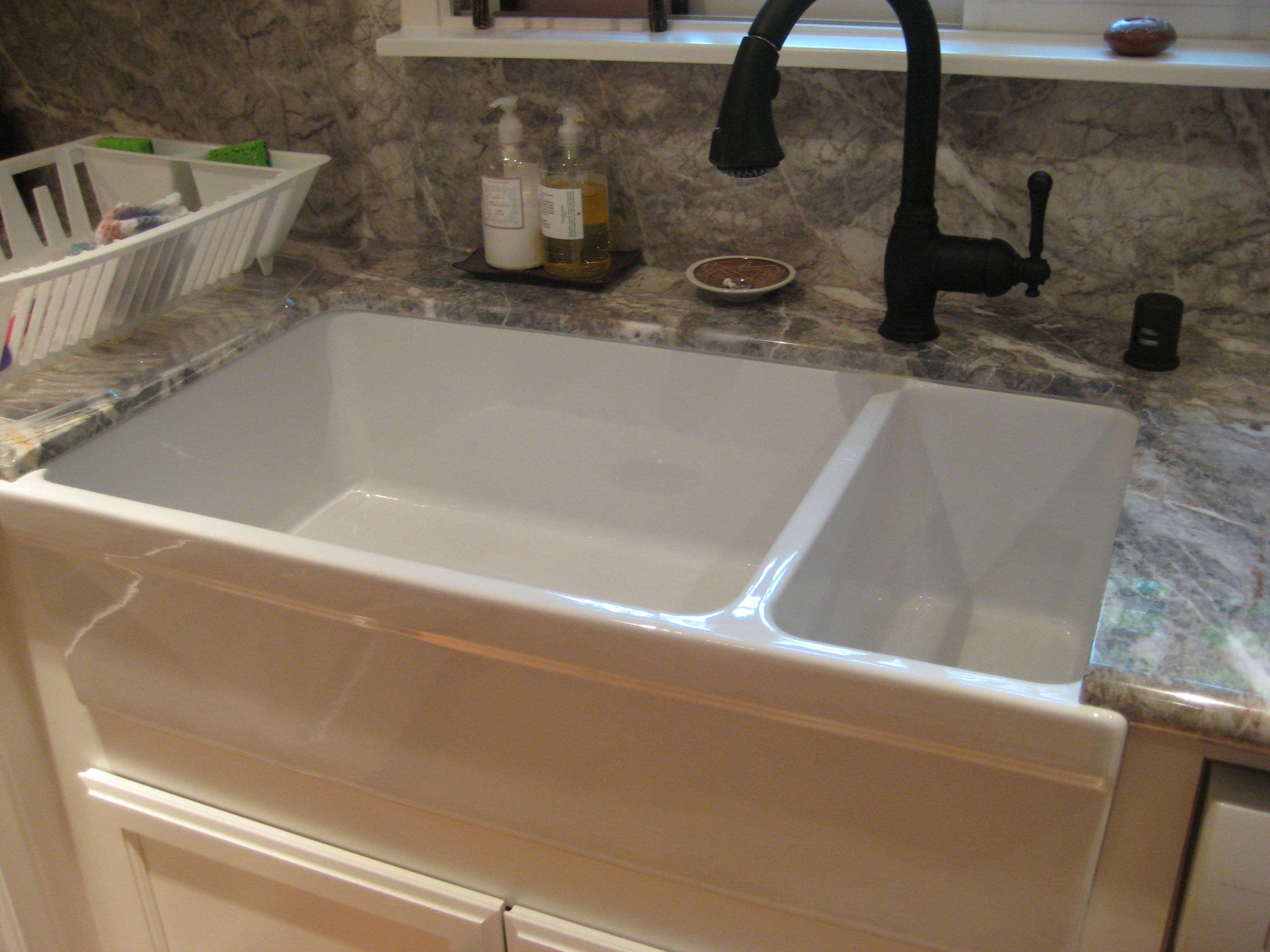 White Porcelain Double Kitchen Sink Part - 24: 17 Best Images About Kitchen Farmhouse Sink On Pinterest Farm Sink Farm  House Sink And Traditional Kitchen Sinks