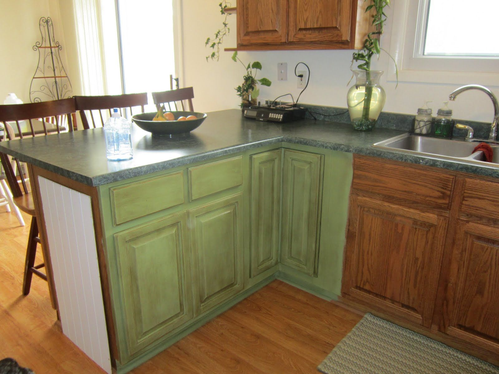 Painting Kitchen Cabinets Ideas Kitchen Paint Schemes Cheap - Chalk paint kitchen cabinets