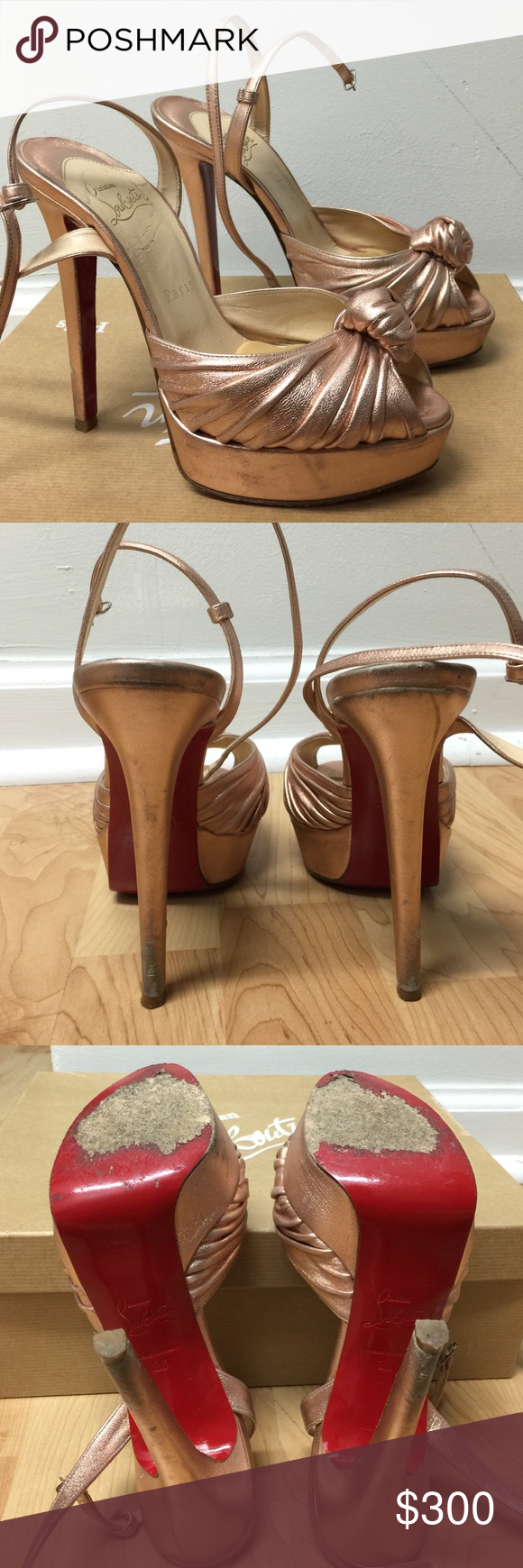 a139ca062751 Rose gold Christian Louboutins. 100% original- bought at Saks Fifth Avenue.  Show