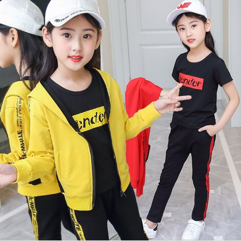 ad2cca82081d5 Girl Casual sportswear 2018 New style Korean fashion two-piece ...