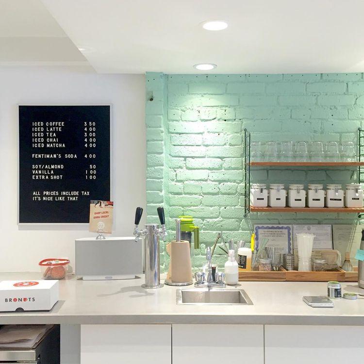 Küche Pastell Modernes Design Wandfarbe Mintgrün Weiss