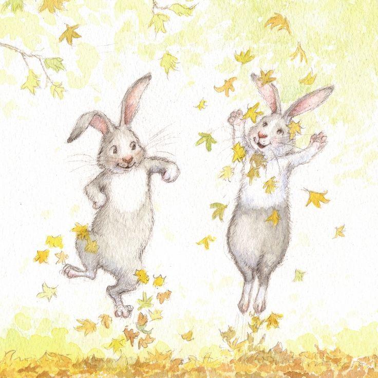 Ребенку, прикольные открытки зайцами