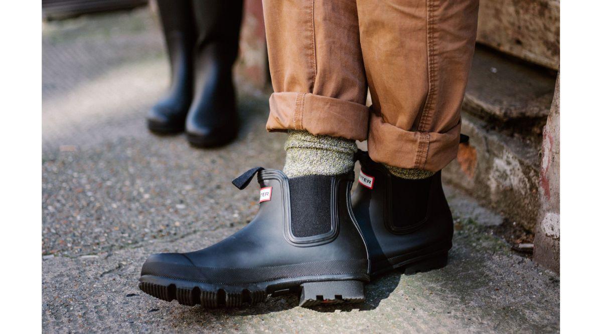 low black hunter boots