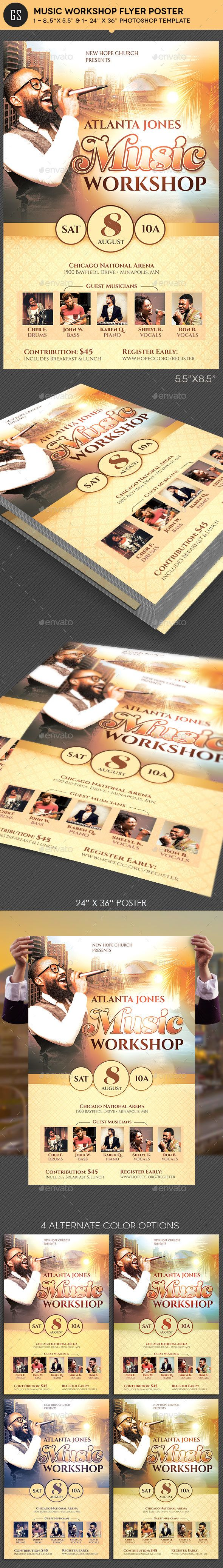 Music workshop flyer poster template template photoshop and flyer music workshop flyer poster template photoshop psd artist flyer available here saigontimesfo