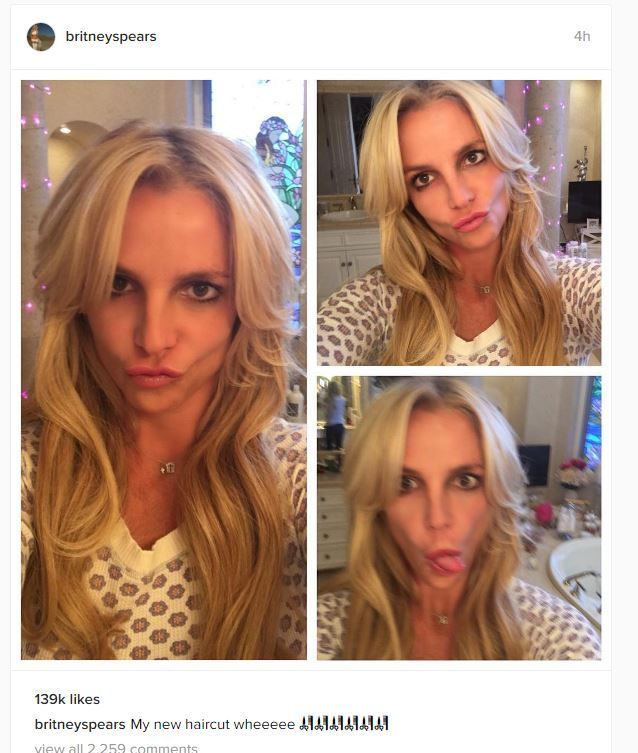 Britney Spears Reveals New Hair Cut After Sorting Out Her Dodgy