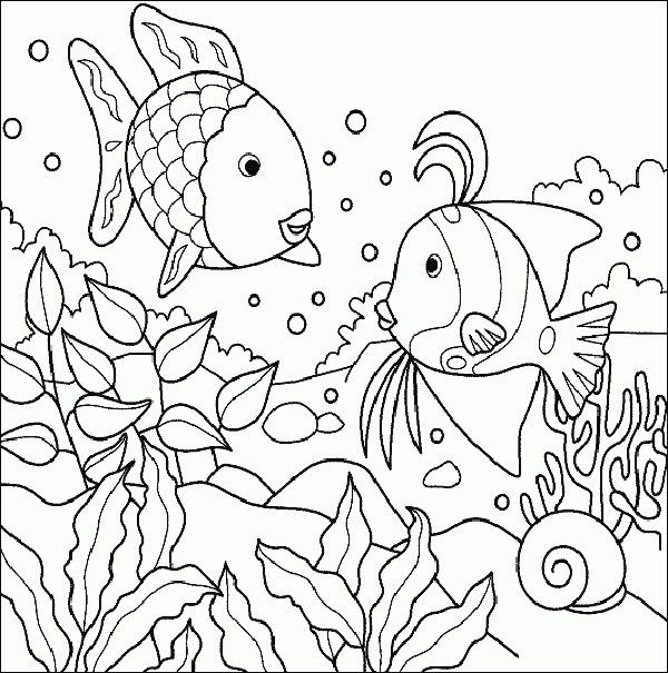 Sea Creature Coloring Pages Rainbow Fish Coloring Page Ocean Coloring Pages Animal Coloring Pages