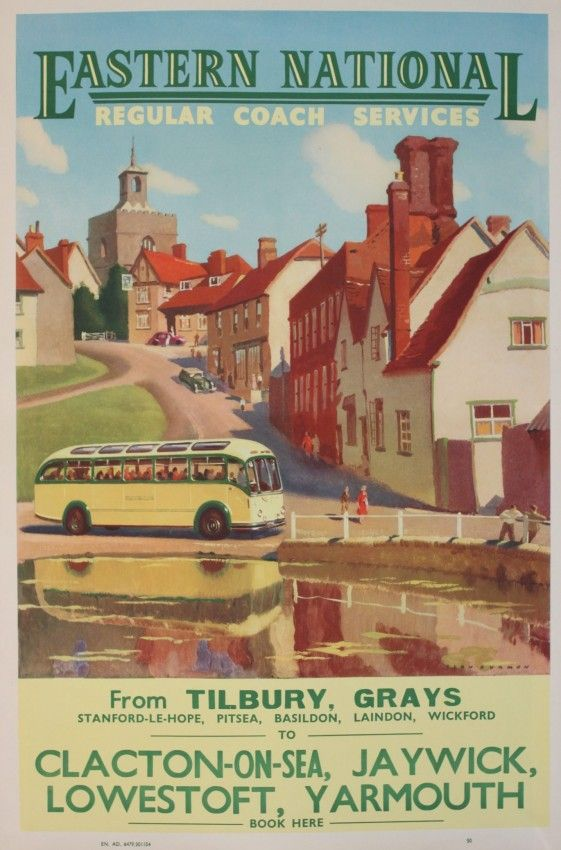 142 Vintage Railway Art Poster Clacton On Sea