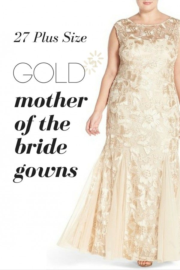 Plus Sized Gold Mother Of The Bride Gowns Plus Size Mother Of The