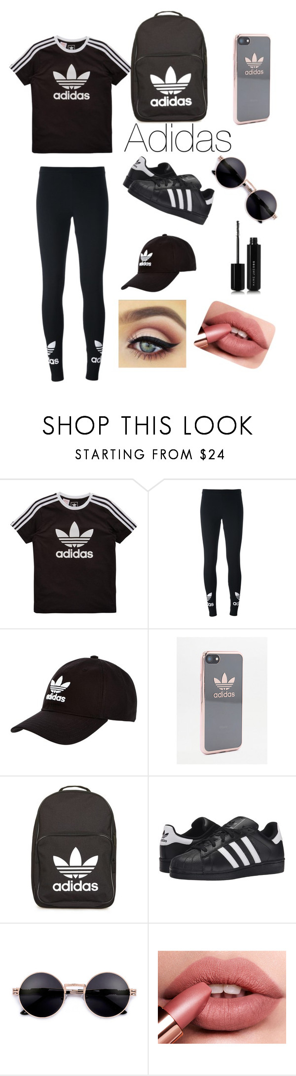 """Adidas❤️"" by oliviaonline ❤ liked on Polyvore featuring adidas Originals, adidas and Marc Jacobs"
