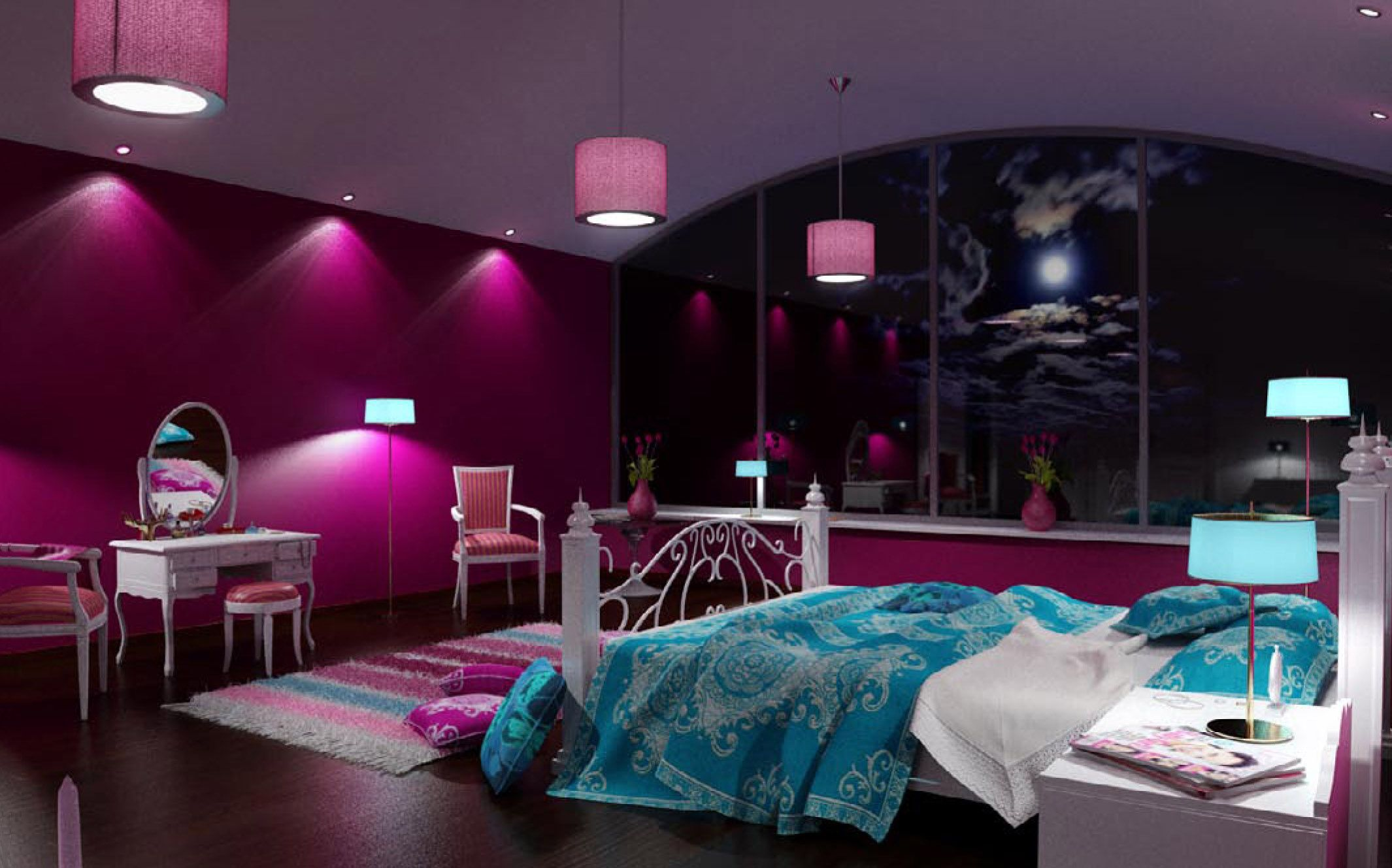 35 different purple bedroom ideas my dream room - Cool bedrooms for teenage girl ...