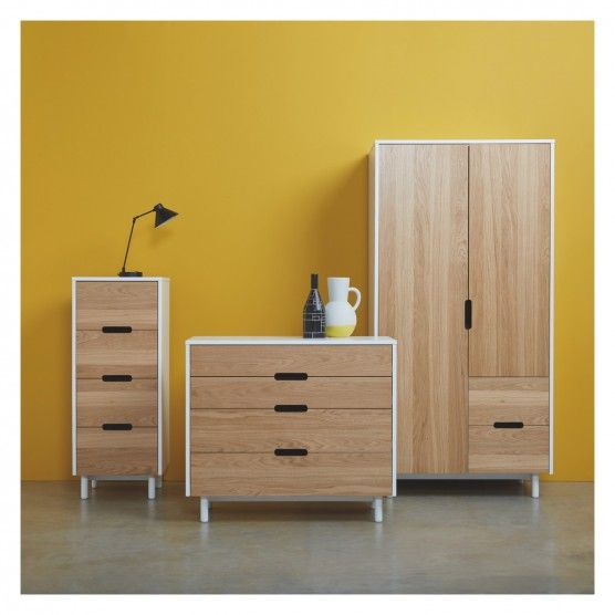 new product 49094 f7e5d BUMBLE White and oak 4 drawer tall chest | new room in 2019 ...
