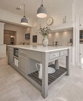 Everything about this kitchen (flooring, color palette, built ...