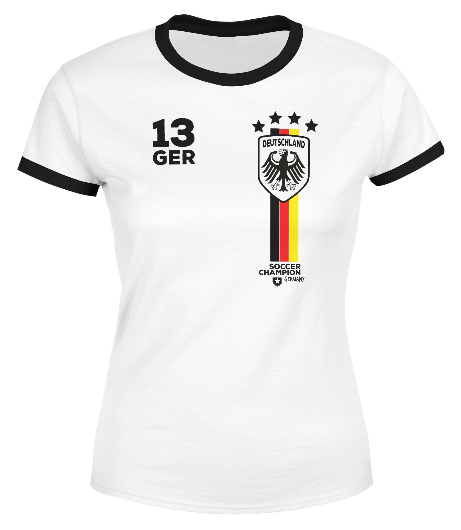 Moonworks Damen Fan Shirt Fussball Retro Deutschland Germany Weltmeisterschaft Fan Trikot Style 2018 Wm Weltmeisterschaft Shirts Trikot
