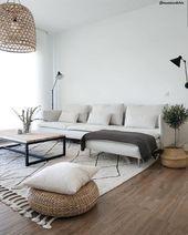 living room Scandinavian design natural elements plants white couch  Modern living room Scandinavian design natural elements plants white couch Modern living room Scandin...