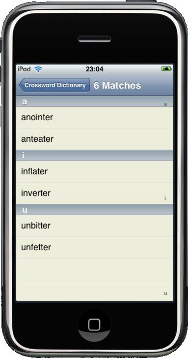 Aardword crossword dictionary uk downloadable Dictionary